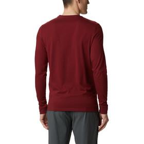 Columbia Outer Bounds Camiseta Manga Larga Hombre, rojo
